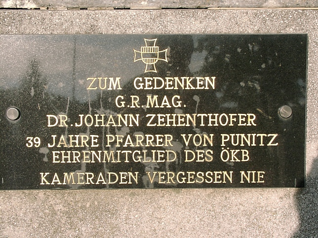 Punitz, Johann Zehenthofer